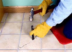 ремонт плитки : сверлим отверстие
