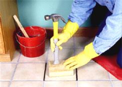 Ремонт плитки : закрепляем плитку