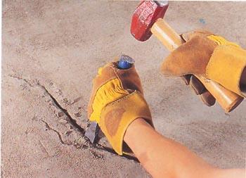 Ремонт трещин в цементе