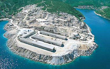 Завод по камнеобработке Jadrankamen на острове Брак