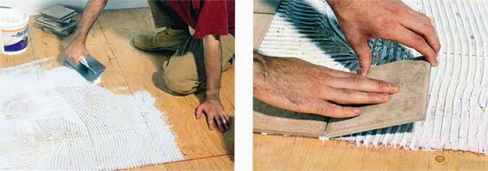erkflrf плиток должна происходить сразу после нанесения раствора