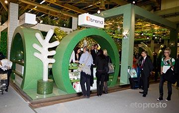 Зеленый стенд Trend на Cersaie 2008