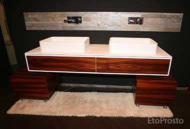 Деревянная мебель для ванной, MOMA Design