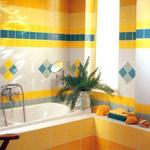 Дизайн ванны с моноколорами Cerdisa