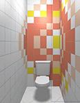 Интерьер туалета с использованием моноколоров Керама Марацци