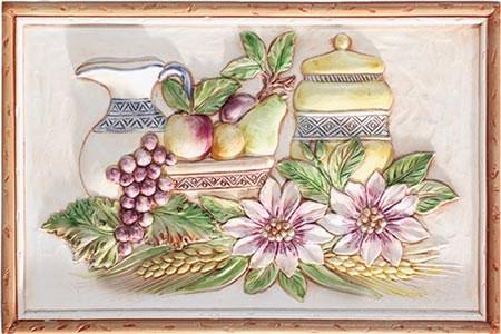 Панно с фруктами.  Плитка для кухни Herberia.